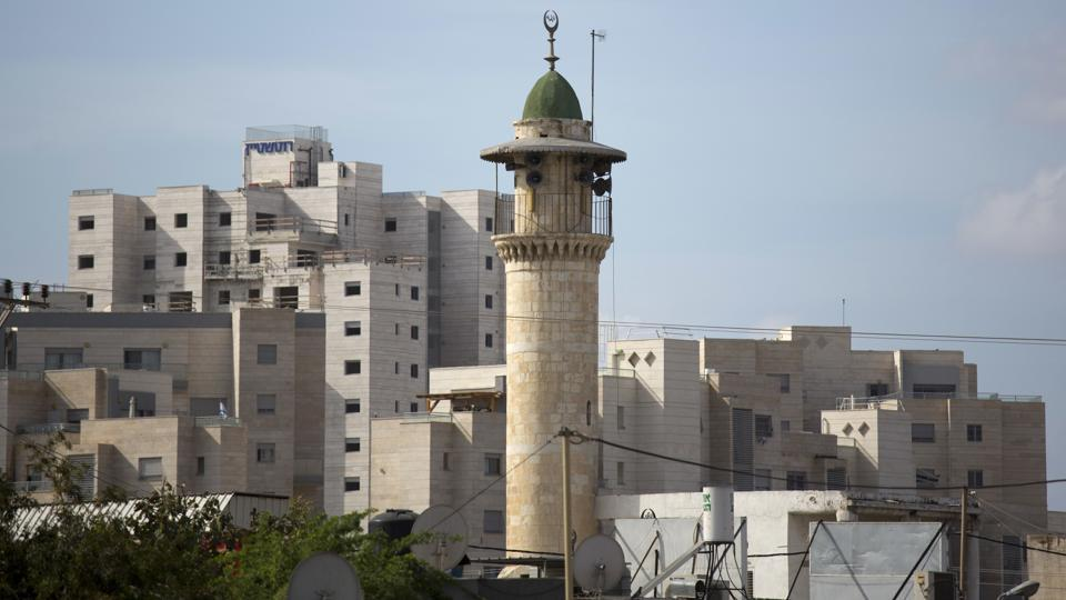 In this file photo, the minaret of a mosque is seen in Lod, a mixed Jewish Muslim and Christian city in central Israel.