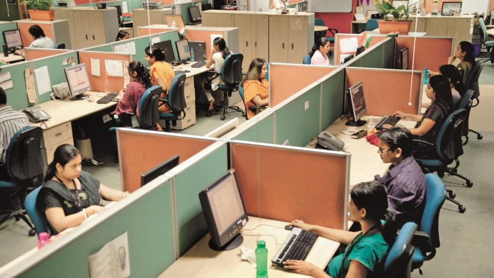 File photo of a  call centre Mumbai.