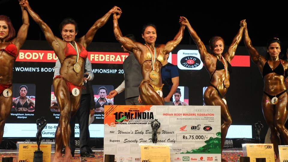 India's famous bodybuilder from Manipur, Sarita Devi, has made the country proud by winning the 'Woman of India' title in the prestigious National Women's Bodybuilding Championship 2017. Mother of two boys, Sarita has shown the world how a woman can successfully balance her professional and personal life. (Parveen Kumar / Ht photo)