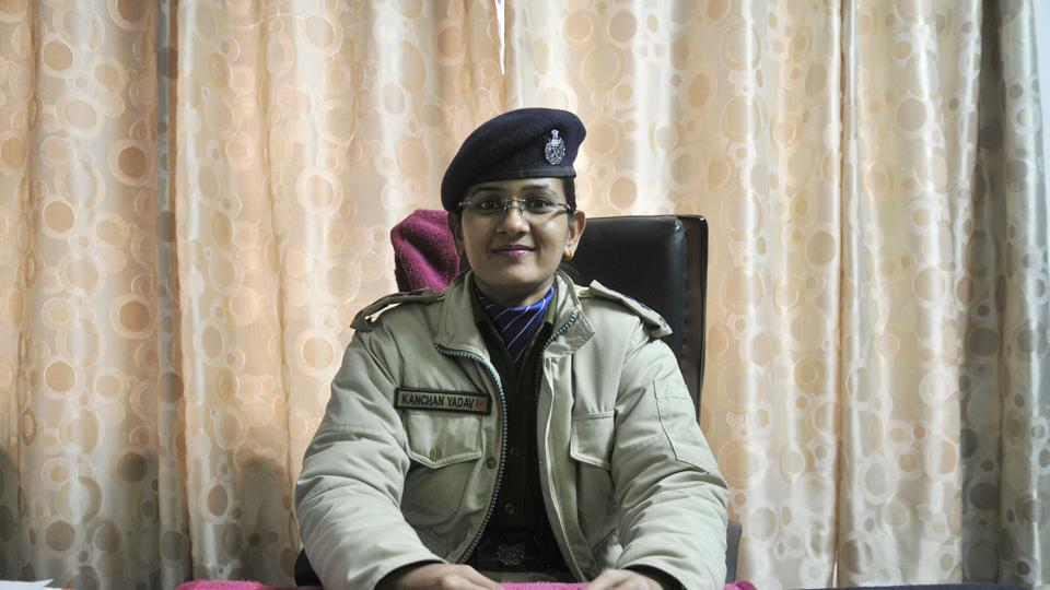 Assistant commandant of the CRPF's 44 battalion in Srinagar Kanchan Yadav.