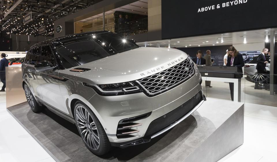 \New Land Rover Range Rover Velar is presented during the press day at the 87th Geneva International Motor Show in Geneva, Switzerland on Tuesday.