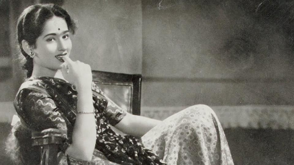 Photographic still of Sumati Gupte from the Hindi film, Mousi (1958) (Photo courtesy: Museum of Art & Photography)