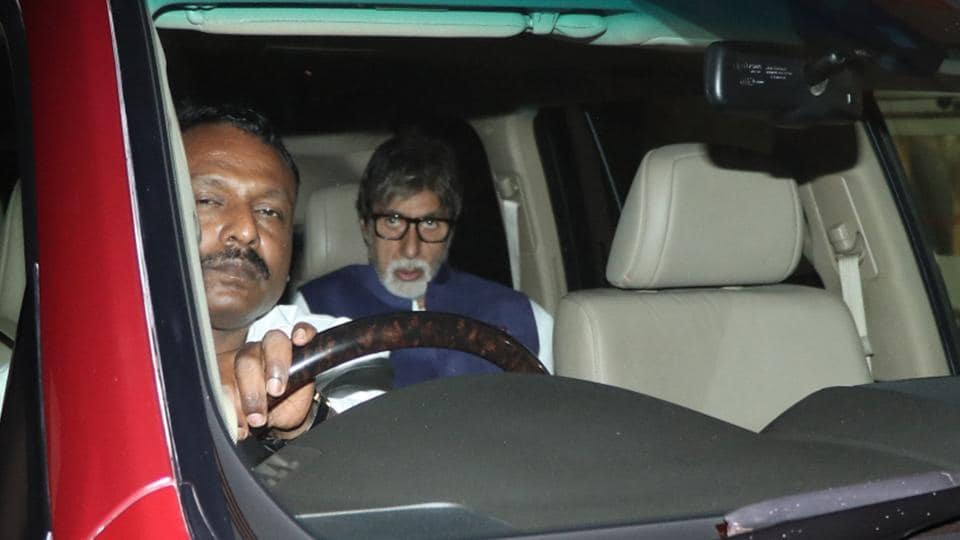Actor Amitabh Bachchan arrives at Lilavati hospital.