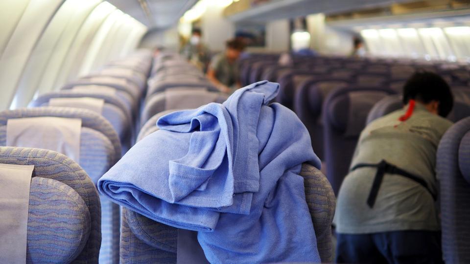 US flight,Hawaii,Blanket