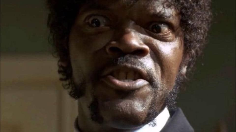 Samuel L Jackson in a still from Pulp Fiction.