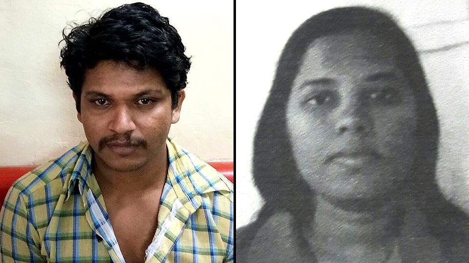 Mobile phone mechanic Vijay Sanjay Jharkad (left), who allegedly killed his live-in partner Punam Punyakar Gajbhiye, in Badlapur city in Maharashtra's Thane district. (HT Photo)