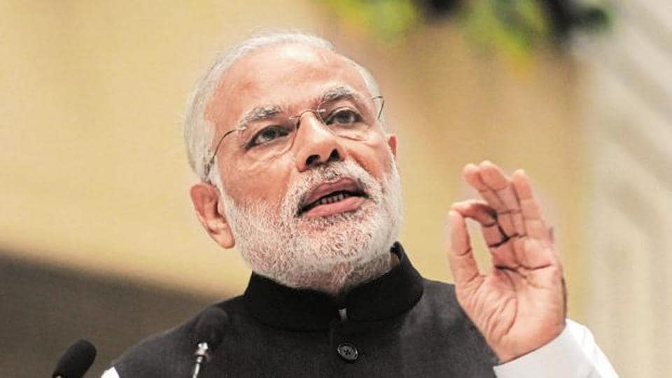 Prime Minister Narendra Modi speaking at a function