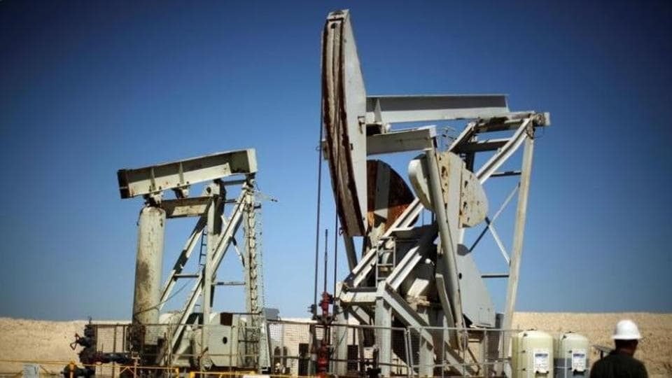 Pump jacks drill for oil in the Monterey Shale, California