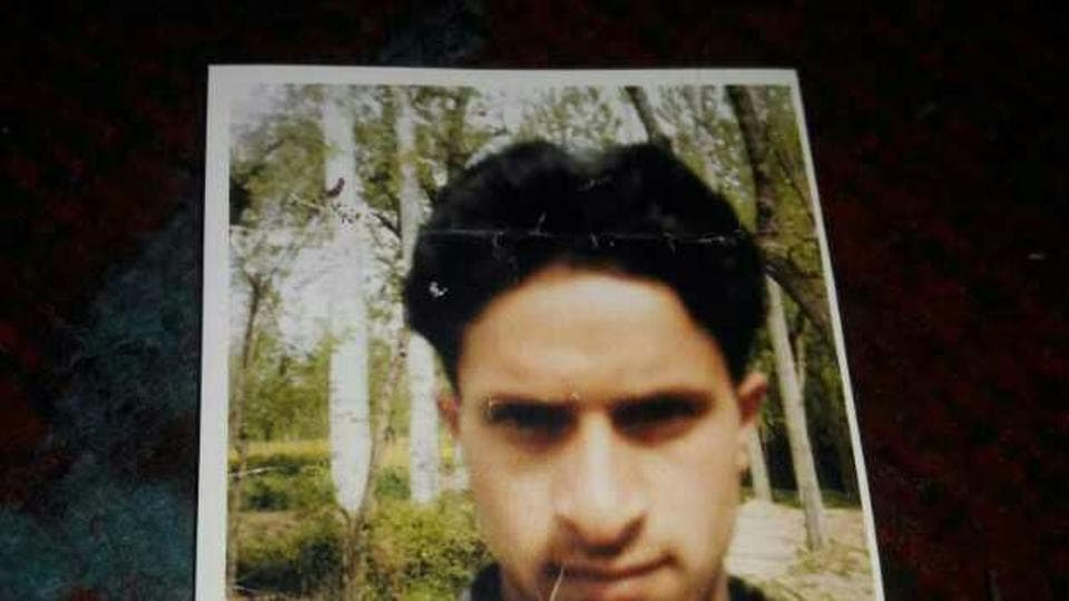 Picture of Muzaffar Ahmed Rather before he was arrested.