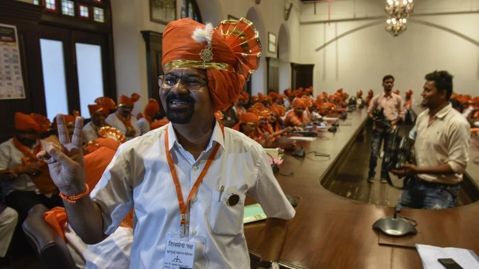 Mumbai mayor Vishwanath Mahadeshwar at the BMC headquarters in Mumbai.