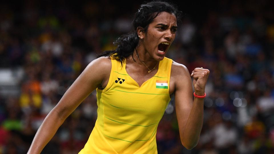 PVSindhu beat Indonesia's Dinar Dyah Ayustine easily to advance to the quarterfinals of the All England Open badminton championship in Birmingham on Thursday.