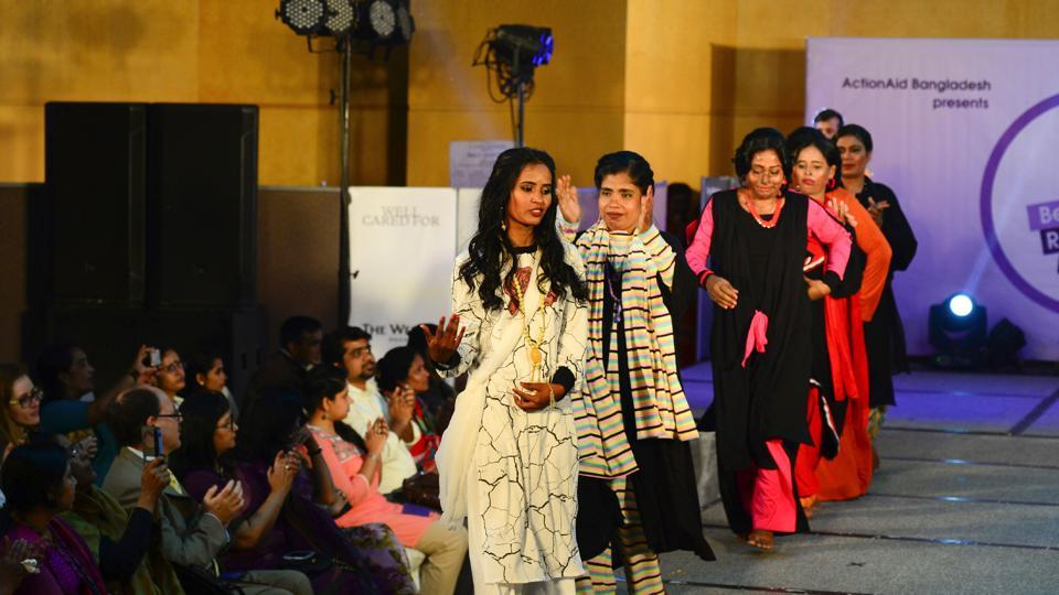 The women took part in a fashion show, 'Beauty Redefined', which was organised by ActionAid. (AFP)