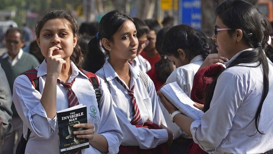 Of the total students, 6.38 lakh are boys and 4.60 lakh are girls. (Ravi Choudhary/HT PHOTO)