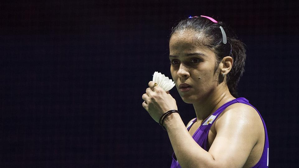 Saina Nehwal defeated Germany's Fabienne Deprez 21-18, 21-10 to join PV Sindhu in the quarterfinals of the All England Open tournament.
