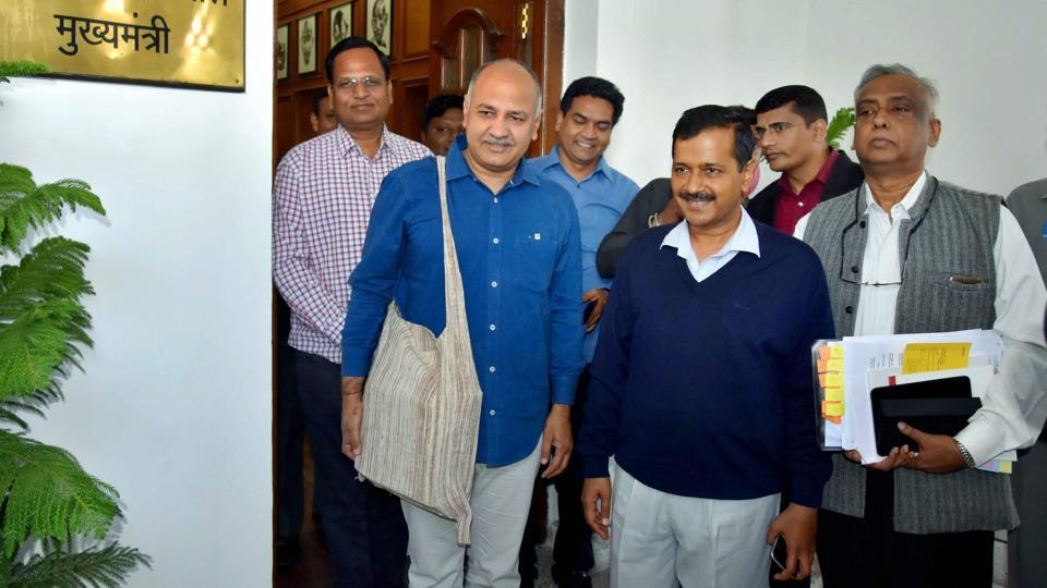 Delhi Chief Minister Arvind Kejriwal and Dy Chief Minister Manish Sisodia.
