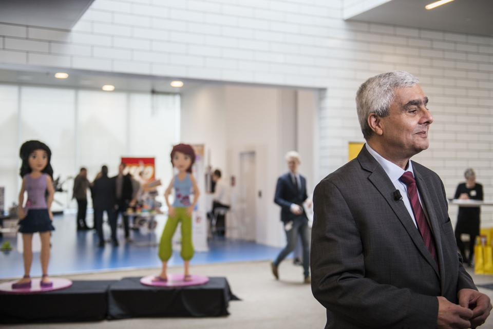 Lego CEO Bali Padda during a press conference in Billund, Denmark on Thursday March 9, 2017. Danish toy maker Lego says its famous colored toy blocks were in high demand in most regions last year, helping its full year revenue increase 6 percent to 37.9 billion kroner ($5.4 billion), the highest figure in the company's 85-year history. (Tanja Carstens Lund/AP via POLFOTO)i