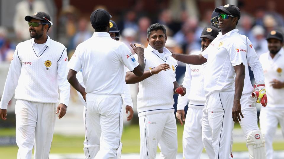 Rangana Herath and Dilruwan Perera grabbed three wickets each as Sri Lanka managed a 182-run lead against Bangladesh in the Galle Test.