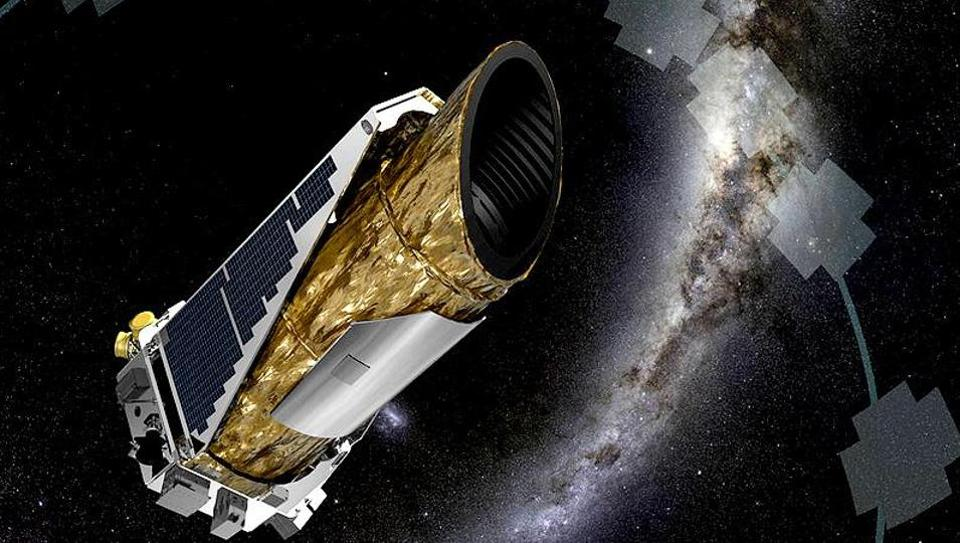 An illustration of Kepler spacecraft operating in a new mission profile called K2.