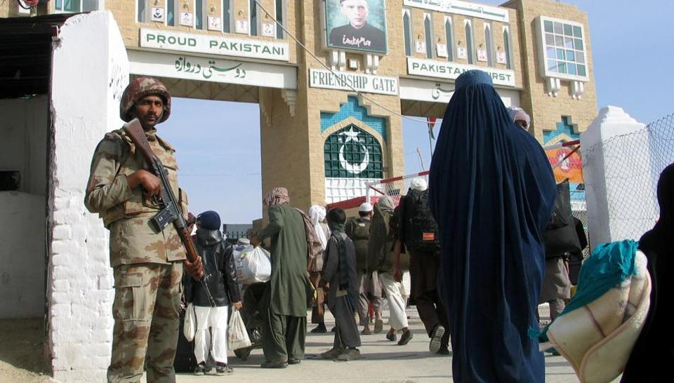 A Pakistani soldier keeps guard at the Friendship Gate, the crossing point at the Pakistan-Afghanistan border town of Chaman.