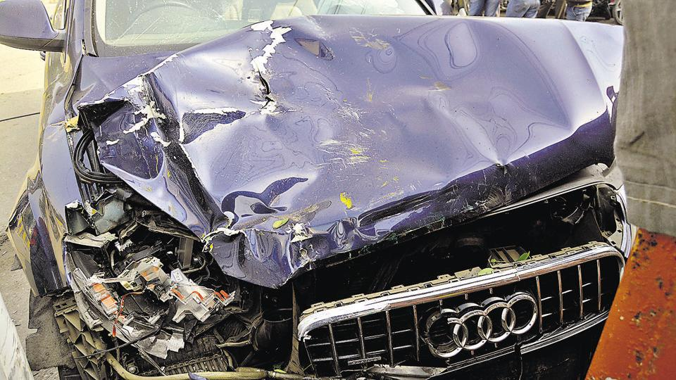Four persons were killed when an overspeeding Audi Q7 hit an autorickshaw on the Hindon canal road on the intervening night of January 27-28.