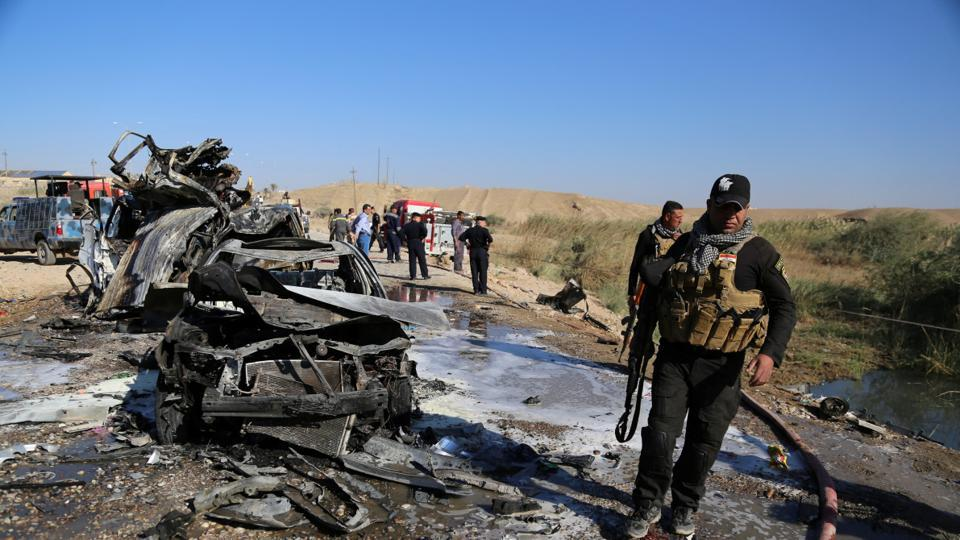 Two bomb blasts, from an apparent suicide attack, hit a wedding party in a village near the Iraqi city of Tikrit on Wednesday.