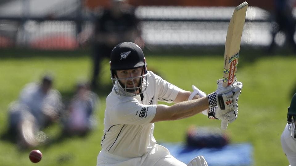 New Zealand's Kane Williamson bats during the first Test against South Africa at University Oval, Dunedin on Thursday.
