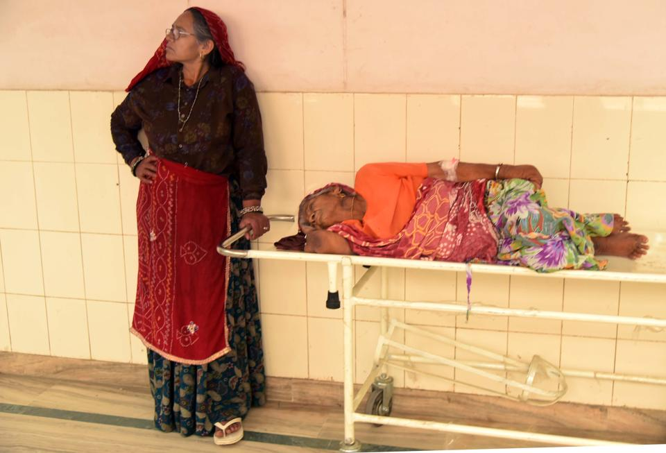 On Thursday, patients had to wait for hours to see a doctor at Sawai Man Singh Medical College.