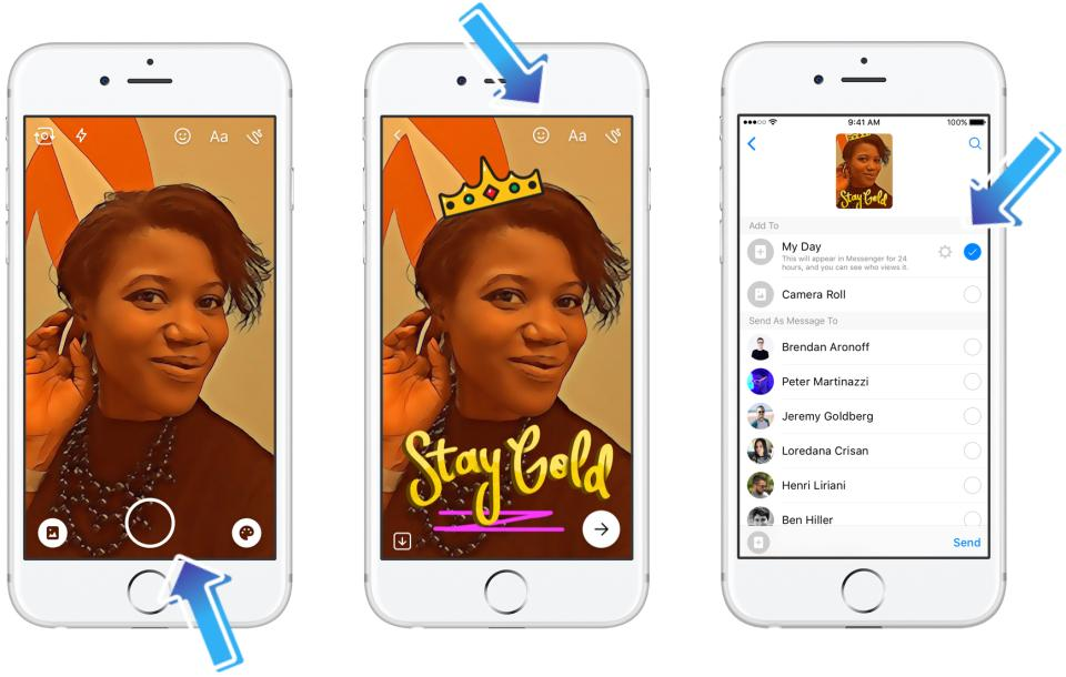 Facebook has introduced Messenger Day, a new snapchat-like feature to the Facebook Messengerapp, through which you can add editable photos and videos that disappear after 24 hours