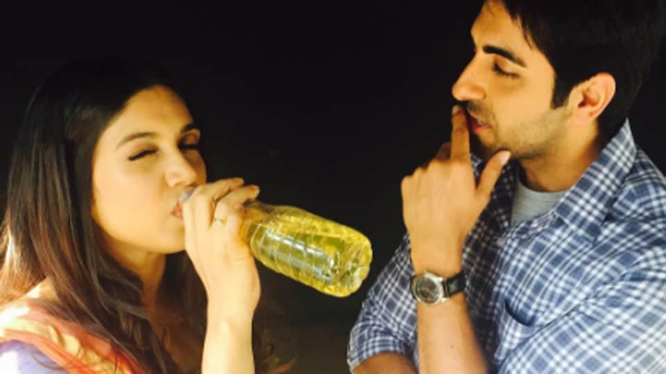 Actor Ayushmann and Bhumi are shooting for their film Shubh Mangal Saavdhan in Delhi.