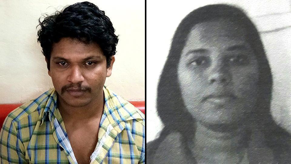 Mobile phone mechanic Vijay Sanjay Jharkad (left), who allegedly killed his live-in partner Punam Punyakar Gajbhiye, in Badlapur city in Maharashtra's Thane district.