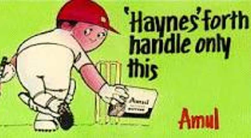 'Handled the ball' is among the rarest of dismissals in cricket (Haynes was only the fourth in the history of the game) and led to a lot of debate. Some fun too as this Amul hoarding