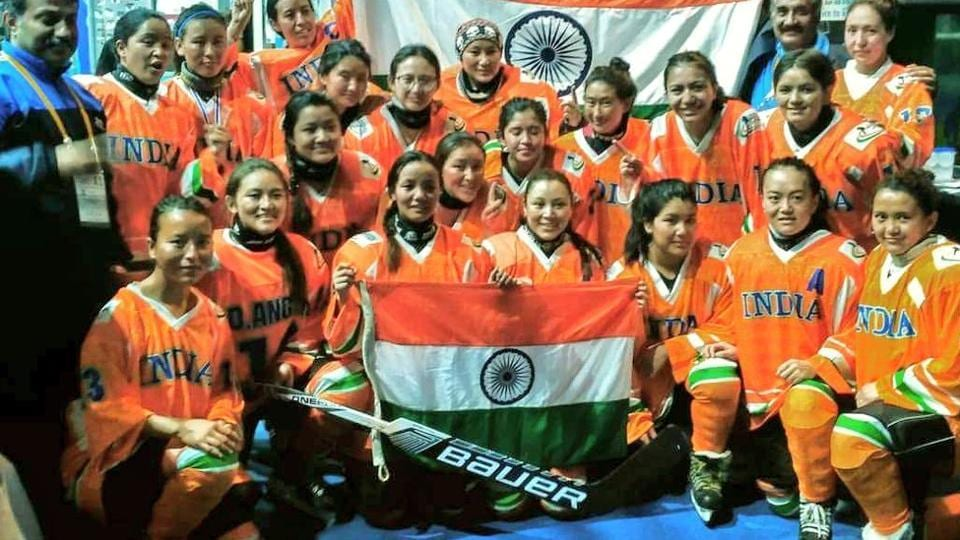 Indian women's ice hockey team registered their first ever win in an international competition.