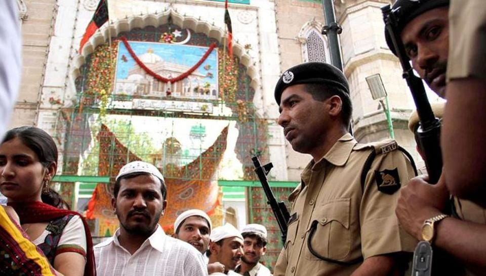 According to the dargah administration, no security arrangements were in place at the time of the blast because few had even imagined that such an incident could occur.  (HT File/Deepak Sharma)