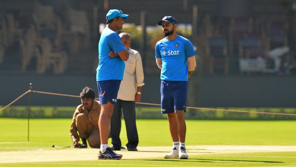 Indian cricket team coach Anil Kumble and captain Virat Kohli will hope to take lead over Australia in the Test series in the Ranchi game.