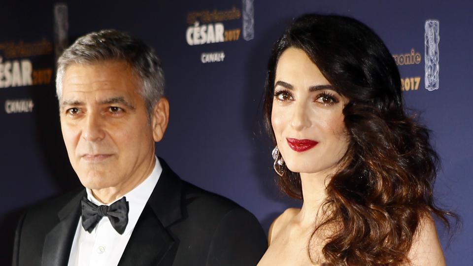 Angelina Jolie,Amal Clooney,George Clooney