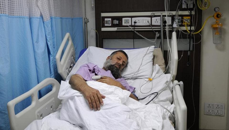 Doctors found 110 grams of heroine in seven capsules stuffed inside the stomach of  55-year-old Abdul Ali Noori