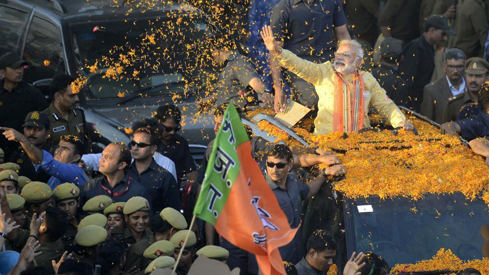 An integral part of the BJP's campaigns across the five states are banking on Prime Minister Narendra Modi to sway the tide in the party's favour as it works towards a 'Congress-mukt Bharat' (Congress-free India).