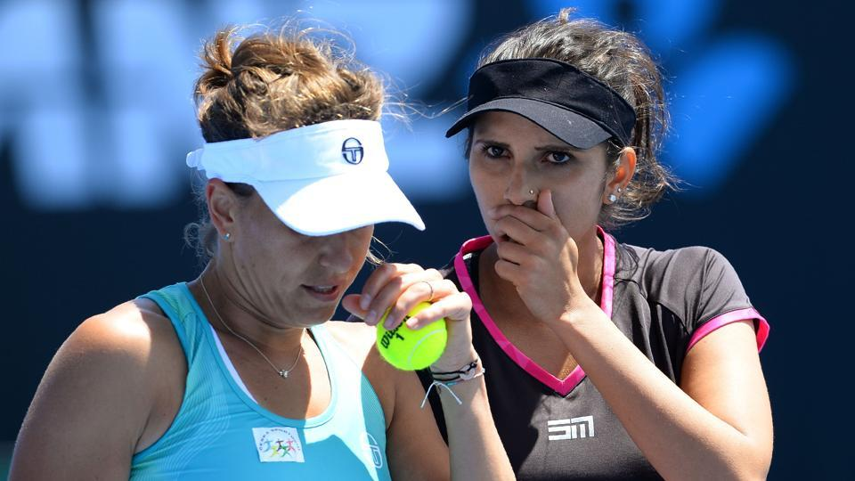 Sania Mirza and Barbora Strycova cruised into the second round of the BNPParibas Open.