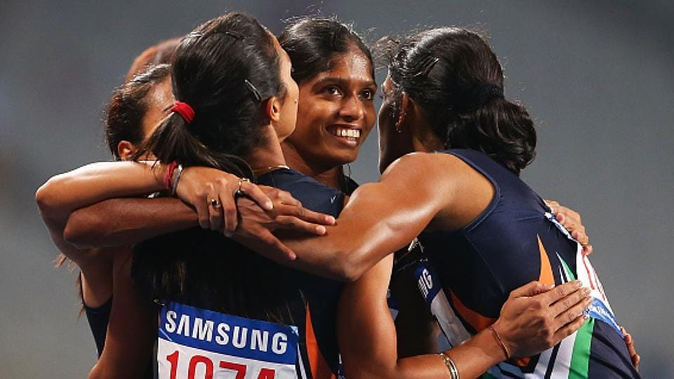 The Indian women's 4x400m relay team, who took part in the Rio Olympics, had won the Incheon Asian Games gold medal in 2014.