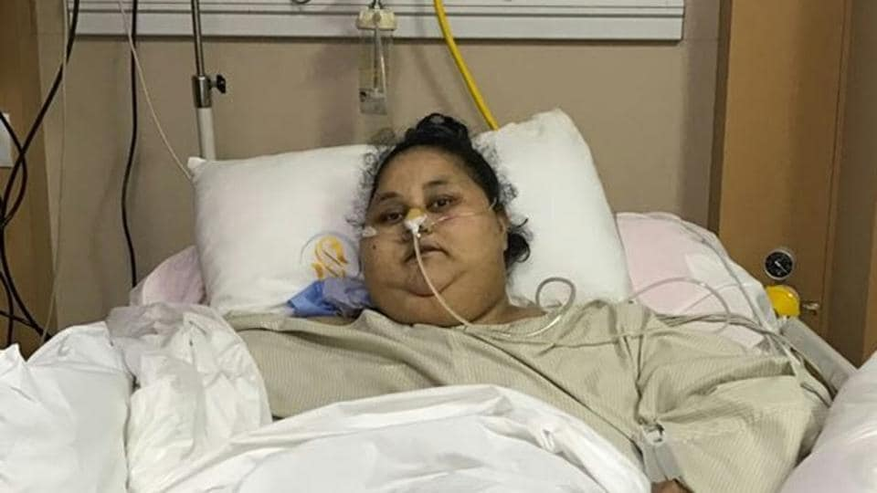 Eman, who arrived in Mumbai a month ago, has already lost nearly 122kg.