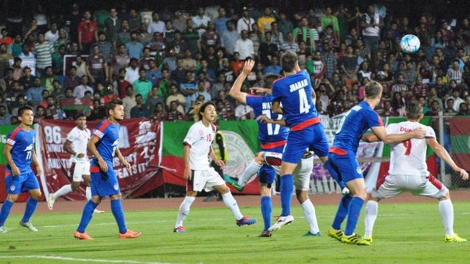 Mohun Bagan were held to a goalless draw by Bengaluru FC in their I-League encounter.
