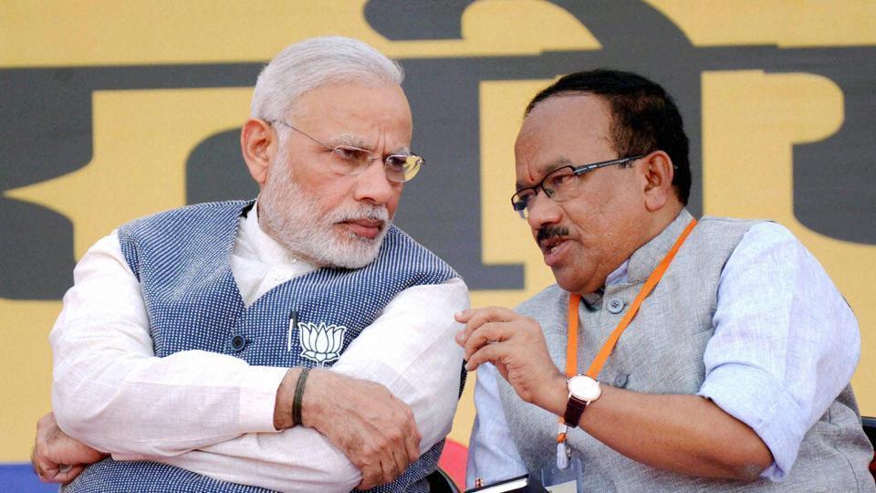 Goa CM Lakshikant Parsekar (right) lost from his home constituency of Mandrem, Goa. (PTI File)