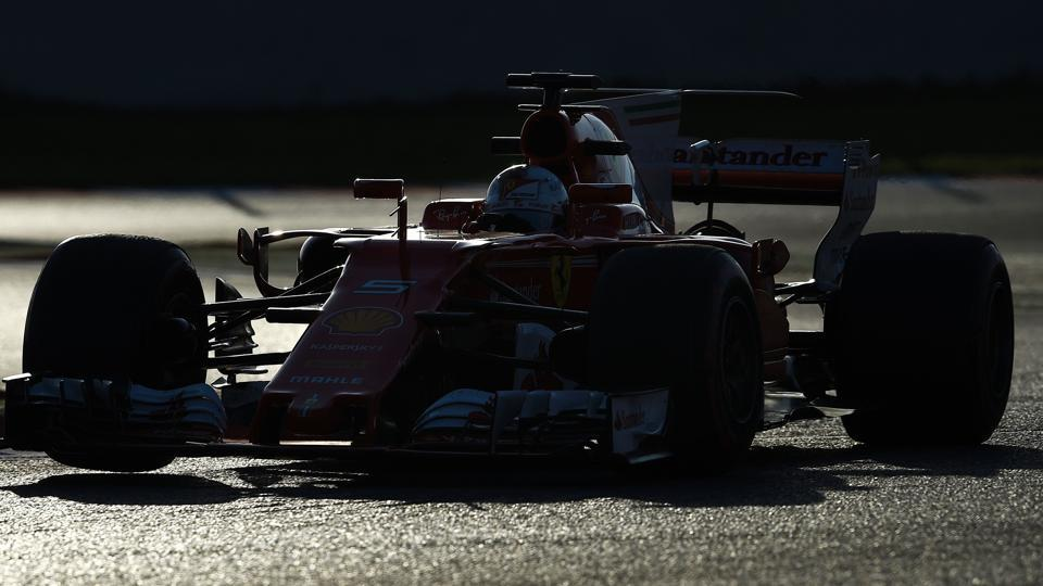 Ferrari's Sebastian Vettel recorded the fastest time on the penultimate day of Formula One's pre-season testing at the Circuit de Catalunya on Thursday, and could be the dark horse  in the title race this season. Lewis Hamilton, in his Mercedes, was second fastest.