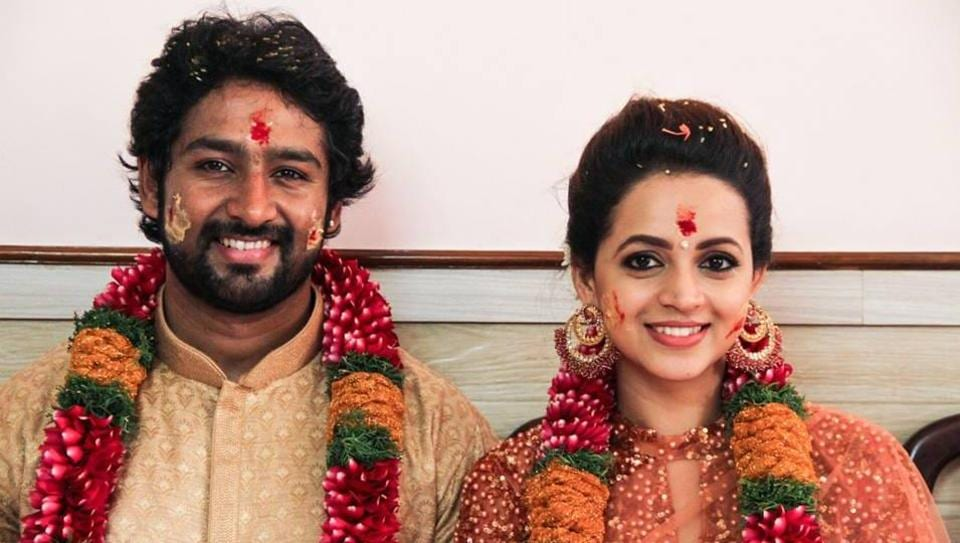 Bhavana got engaged to Kannada actor-producer Naveen on March 9.