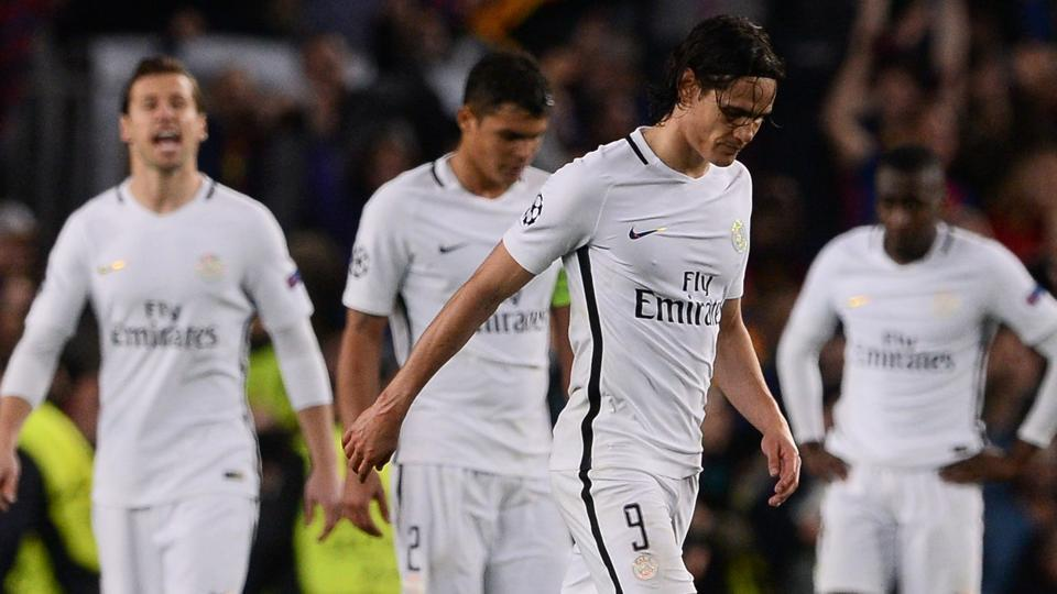 Paris Saint-Germain crashed out of the Champions League after losing to FC Barcelona.