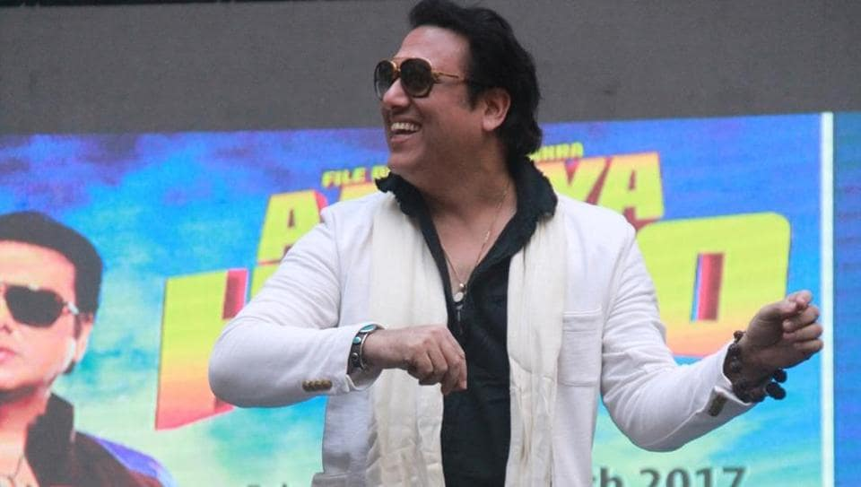 Actor Govinda during the promotion of film Aa Gaya Hero at Alegria College Fest in Mumbai, on February 10, 2017.