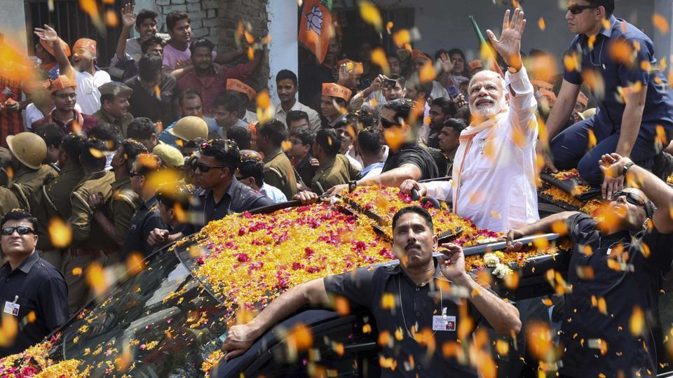 Led by Prime Minister Narendra Modi, the BJP was seen as leading in 298 of the state's 403 assembly seats.