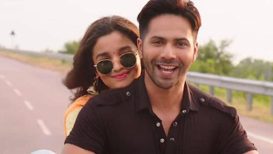 Alia Bhatt and Varun Dhawan in a still from the movie.