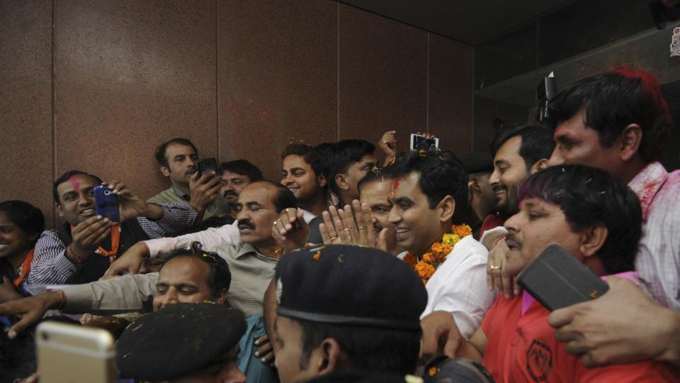 Pankaj Singh said 'development will be a priority' for their government in the state.