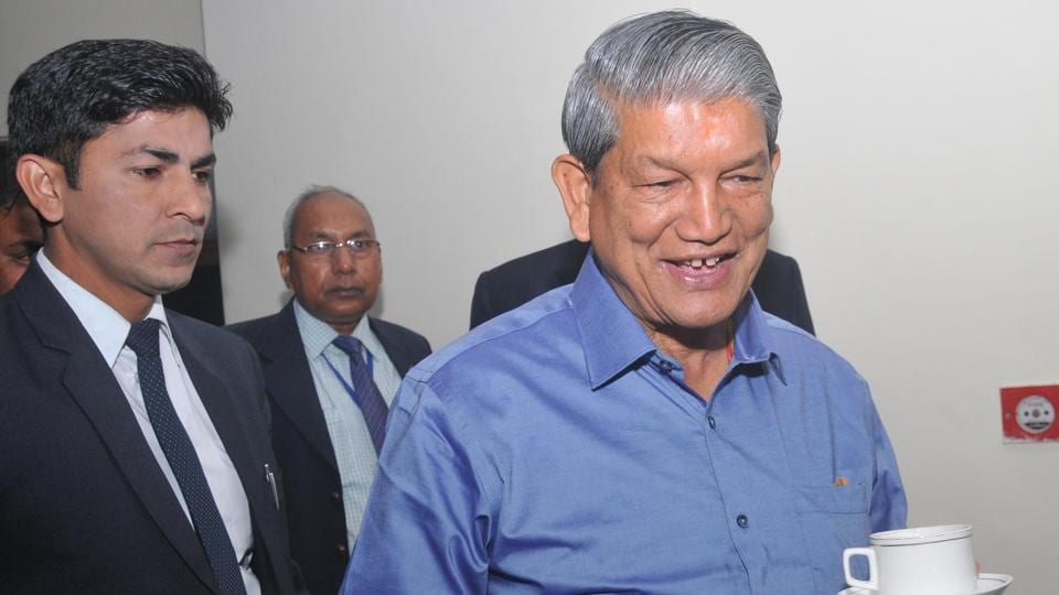 Chief minister Harish Rawat enjoys a cup of tea on Sunday morning.